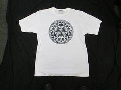 "M.C. Escher Adult Large T-shirt ""Devils and Angels  Circle Limit IV"" Never Worn!"