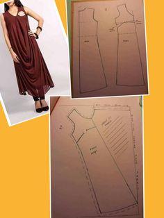 Maybe as a gaze and lace layered dress? Kurta Designs, Blouse Designs, Clothing Patterns, Sewing Patterns, Pattern Draping, Sewing Blouses, Dress Making Patterns, Batik Dress, Fashion Sewing