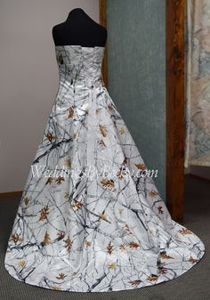 'Abigail' all Truetimber camo wedding gown. We ship USA and Canada.