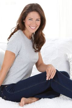 The softer side of our already extremely soft (and stretchy) PajamaJeans. We love pairing our Skinny Clearwater Wash PajamaJeans with bright whites, saturated hues - even black. Confidence Coaching, Indigo, Skinny Jeans, Denim, Stylish, Tees, Pajama, Womens Fashion, Casual