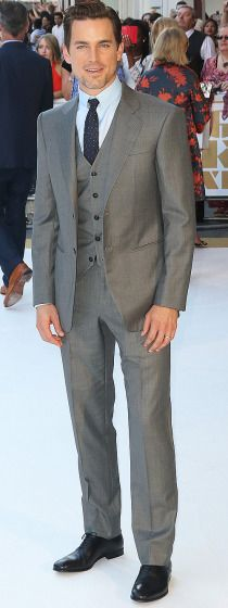 """Matt Bomer suits up for the London premiere of """"Magic Mike XXL."""""""