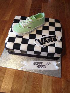 Vans shoes checkerboard birthday cake