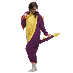 Purple dragon Cosplay Onesies Kigurumi Adults Pajamas Sleepwear | Onesies | Mopixiestore.com