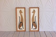 Mid Century Siamese Cat Wood Framed Pair Wall Art Hanging 50's 60's 70's Retro Modern Atomic Pet MCM by RetroSpecList on Etsy https://www.etsy.com/listing/247468582/mid-century-siamese-cat-wood-framed-pair