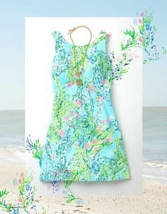 Lilly Pulitzer Cathy Shift Shown in Skye Blue Blue Heaven.