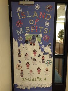 Island of Misfits- Christmas door decoration contest