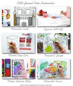 Art School for Kids Fourth Grade art videos