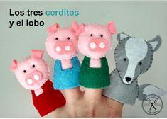 Felt So Good: Los 3 cerditos y el lobo - Kichink! · little piglets finger puppets