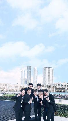 EXO IN DUBAI #EXODUBAI #FOUNTAINDUBAI #EXOPOWER