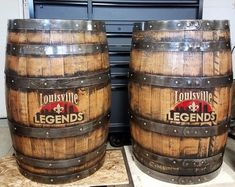 Whiskey barrel Half split flat back Whiskey barrel branded customized names, lettering, stained bourbon aged rustic. Whiskey Barrel Sink, Bourbon Barrel, Rustic Bathroom Vanities, Wood Bathroom, Wine And Beer, Lettering, Round Mirrors, Illustrations, Wall Hanger