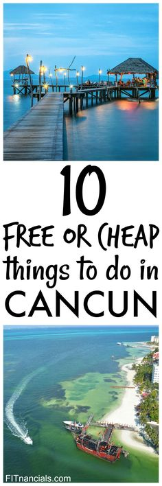 Check out this list of 10 free or cheap things to do in Cancun! This is such a great list. Heading to Cancun and on a limited budget? Here are 10 free or cheap things to do in Cancun that will make Cancun your best trip ever. Travel Jobs, Ways To Travel, Best Places To Travel, Places To See, Travel Hacks, Budget Travel, Travel Guide, Cheap Things To Do, Stuff To Do