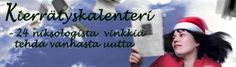 Laurea Library Advent Calendar, Laurea-kirjaston joulukalenteri, kirjastokalenteri, kierrätyskalenteri