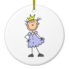 Little Princess With Crown Christmas Ornament