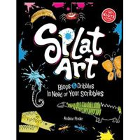Somewhere between a blank page and a coloring book lies Splat Art: Blops & Dribbles in Need of Your Scribbles.
