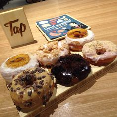 Handcrafted glazed doughnuts @ Tap Cafe, 52 Martin Place Doughnuts, Sydney, Muffin, Breakfast, Desserts, Food, Morning Coffee, Tailgate Desserts, Deserts