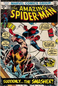 Check out this cool title in our#etsy shop: Amazing Spider-Man #116 (1963 1st Series) - January 1973 - Grade Fine http://etsy.me/2FUQ0Sl #booksandzines #comic #marvelcomics #superherocomics #spiderman #spidermancomics #amazingspiderman #spidermanmarvel #vint