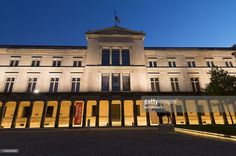 Stock Photo : 'Germany, Berlin, Exterior night view of Neues Museum or New Museum on Museumsinsel'