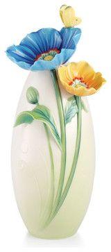 FRANZ PORCELAIN COLLECTION Brave New Hopes Poppy Vase