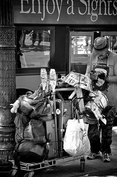 Any one can become homeless. I came close several times in my life. When you're driving around, pay attention to the people who are walking. What are they wearing? Is it winter and they have old sneakers with holes in them, no gloves, no hat, and just a jean jacket on?