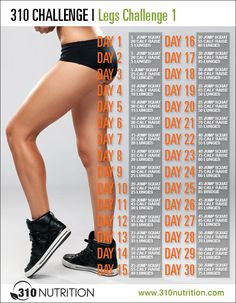 310 Challenge - 310nutrition- Legs                                                                                                                                                                                 More