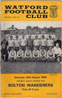 Vintage Football (soccer) Programme - Watford v Bolton Wanderers, 1969/70 season #football #soccer #watford