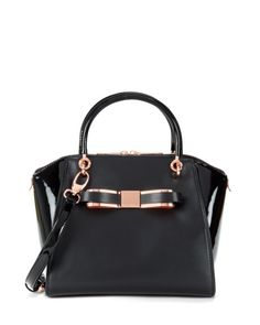 Leather tote bag - Black | Bags | Ted Baker ROW