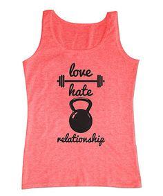 Loving this Neon Pink 'Love Hate Relationship' Tank on #zulily! #zulilyfinds