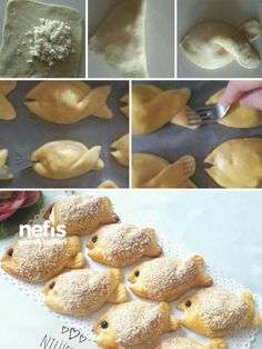 How to Make Fish Donuts Recipe? Illustrated explanation of Fish Pastry Recipe in book and photographs of those who try here. Donut Recipes, Fish Recipes, Yummy Recipes, Cookie Recipes, Dessert Recipes, Oreo Desserts, Fish Pastry Recipe, Pastry Recipes, Bread And Pastries