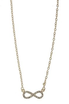 INFINITY SIGN PENDANT NECKLACE