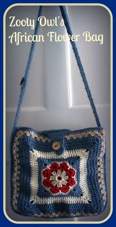 Zooty Owl's Crafty Blog: African Flower Crochet Bag