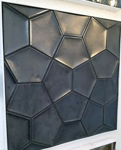 One pretty example of black for bath: Daniel Ogassian& Renta tile in metallic black for Ann Sacks. 3d Wall Tiles, Tile Art, Mosaic Tiles, Geometric Tiles, Wall Cladding, Decorative Tile, Tile Patterns, 3d Pattern, Tile Design