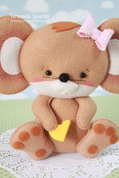 Baby Ratinhos! Peças presentes em minha Apostila Digital Baby Pets. Para conhecer acesse: www.boutiquedofeltro.com