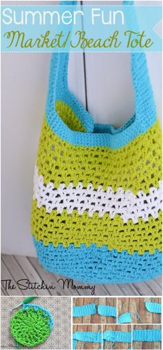 Summer Fun Beach or Market Crochet Tote - 31 Free Crochet Patterns That You will in Love with | 101 Crochet