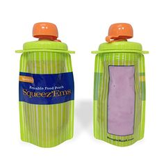 squeezems 6oz reusable food pouches new improved screwtop design 10 pouches for more information
