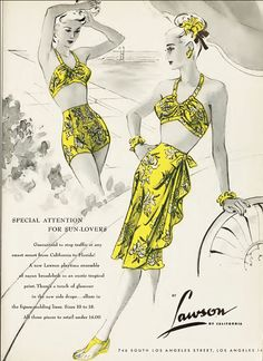 Lawson1945vintageswimsuit wrapskirt that goes over swimsuit