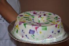 Gelatina Mosaico ou Gelatina Colorida com Leite de Coco