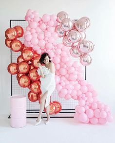 Balloon Decorations Party, Birthday Party Decorations, Birthday Parties, Mylar Balloons, Baby Shower Balloons, Balloon Wall, Balloon Garland, Outdoor Graduation Parties, Wedding Reception Backdrop