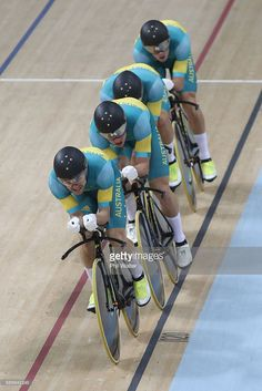 A great race by the Aussie team in the team pursuit. It took a world record by Great Britain to relegate Australia to the silver medal. 3:50.265 was the winning time, Australia hit the line at 3:51.008. Alexander Edmondson, Jack Bobridge, Michael Hepburn and Sam Welsford of Team Australia   on Day 7 of the Rio 2016 Olympic Games at the Rio Olympic Velodrome on August 12, 2016 in Rio de Janeiro, Brazil. #rio2016
