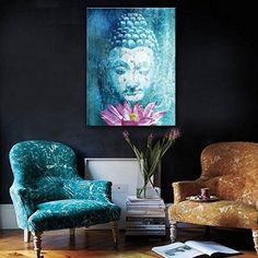 It is amazingly easy to create a peaceful home when you fill it with adorable and lovely Buddha home decorative accents. Surprisingly Buddha wall statues are becoming increasingly popular as they are a symbol of tranquility and peace. Moreover combine them with lotus flower decor to create a true Buddhist paradise Stretched Canvas Art Buddha And Lotus Decoration Painting One Pcs (50*70CM)