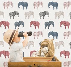 Galerie Wallcoverings - New Wallpaper Collections Kids Wallpaper, Print Wallpaper, Wallpaper Roll, 4 Kids, Children, Bold Colors, Colours, Play Spaces, Elephant Print