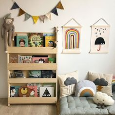 "Tidy Books - Kid's bookcases auf Instagram: ""What books do you read on a rainy day? Do you have a special book that you read together?⠀ ⠀ Lovely book collection on a natural Tidy…"""