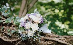 Download wallpapers Wedding bouquet, roses, bouquet of the bride, forest, beautiful bouquets