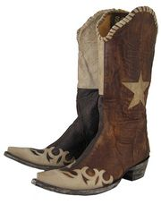 Even if your not from Texas this Ladies Spirit of Texas Boot will stir the inner cowgirl in your soul.  Beautiful brass tone leather is combined with vintage looking bone leather in exquisite wingtip overlays, whip stitching, patchwork shaft and the Lone Star on the shaft. The cowgirl cool snip toe is perfect for the trend setter. The spirit of Texas is alive and well around the world in this great Old Gringo cowgirl boot.