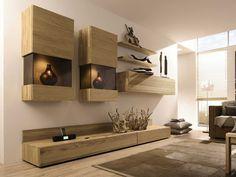 Mueble modular de pared composable lacado con soporte para tv ELEA   Mueble modular de pared con soporte para tv - Hülsta-Werke Hüls