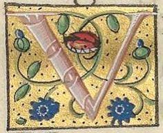Horae Publication date : Type : manuscript Language : latin Letter Symbols, Alphabet Letters, Initial Letters, Letter Ornaments, Clever Logo, Sealing Wax, Bnf, Illuminated Letters, Wax Seals