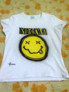 camisa feminina do nirvana.