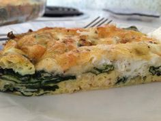 Cheesy egg and #spinach #breakfast casserole