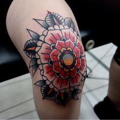 Knee tattoo by mors tattoo