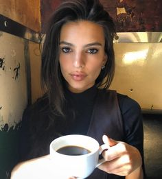 hottygram:One more cup of ☕️ for the road by emrata