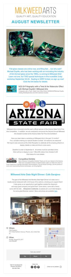 August Newsletter: Food, Fun, and the Fair! Arizona State Fair, Kiln Formed Glass, The Incredibles, Education, Fun, Learning, Funny, Teaching, Hilarious